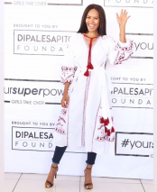 Gail Mabalane Beautiful Robe Jeans Heels.jpg