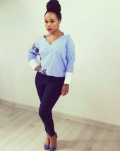 Sindi Dlathu Beautiful Blue Pants and Red Lips.jpg
