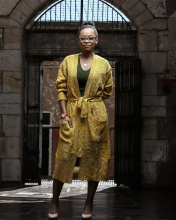 Mmabatho Montsho Beautiful Yellow Wool Dress.jpg